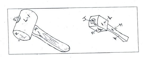 how to draw a mallet